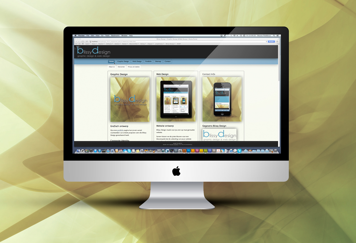 iMac with Blissy Design Website